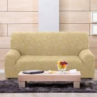 Чехол на трехместный диван универсальный Данубио Беж