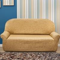 Чехол на трехместный диван. Бостон Беж. Универсальный