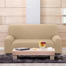 Чехол на трехместный диван универсальный Вена Беж