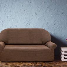 Чехол на трехместный диван универсальный Вена Марон