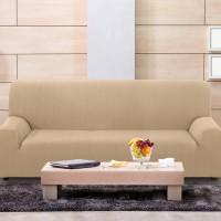 Чехол на четырехместный диван универсальный Вена Беж
