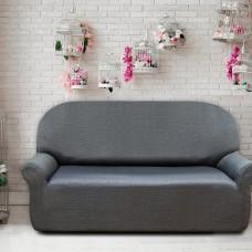 Чехол на трехместный диван универсальный Натуре Грис