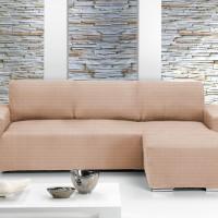 Чехол на угловой диван универсальный с оттоманкой справа Ибица Марфил