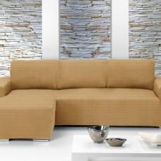 Чехол на угловой диван с выступом слева Европейский Ибица Беж