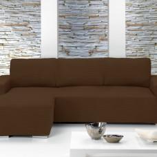 Чехол на угловой диван с выступом слева Европейский Ибица Марон