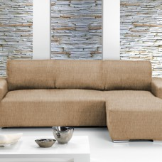 Чехол на угловой диван с выступом справа Европейский Тейде Беж