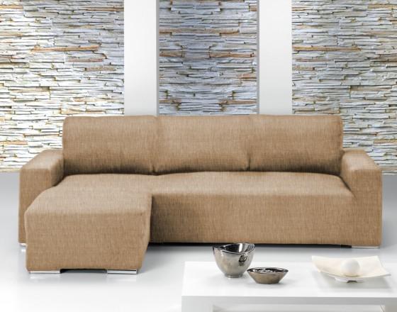 Чехол на угловой диван с выступом слева Европейский Тейде Беж