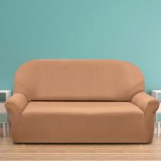 Чехол на диван трехместный.  Рустика Беж.  Универсальный