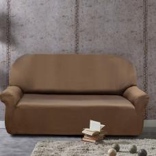 Чехол на трехместный диван универсальный Рустика Марон