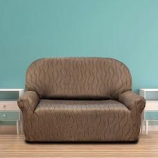 Чехол на двухместный диван универсальный Тоскана Марон