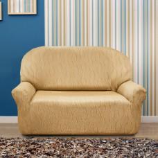 Чехол на двухместный диван универсальный Тоскана Беж