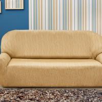 Чехол на четырехместный диван универсальный Тоскана Беж