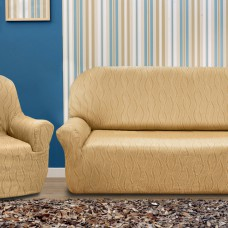 Комплект чехлов на диван трехместный и два кресла. Тоскана Беж