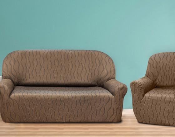 Комплект чехлов на 3-ёх местный диван и два кресла Тоскана Марон