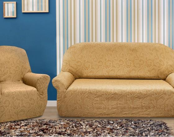 Комплект чехлов Бостон Беж на 3-ёх местный диван и два кресла Универсальный