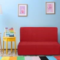 Чехол на диван без подлокотников универсальный Ибица Рохо