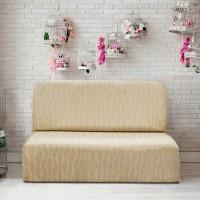 Тоскана Марфил.  Европейский чехол на диван без подлокотников. Универсальный.