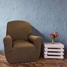 Чехол на кресло универсальный Рустика Марон