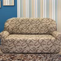 Чехол на трехместный диван универсальный Персия Беж
