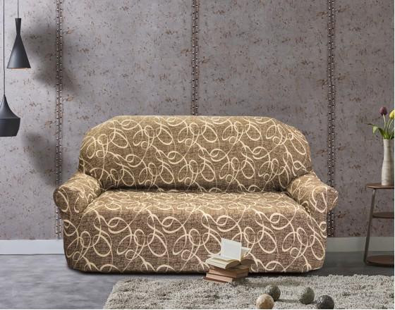 Чехол на трехместный диван универсальный Персия Марон