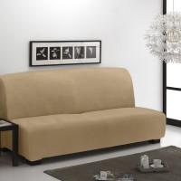 Тейде Беж.  Европейский чехол на диван без подлокотников. Универсальный.