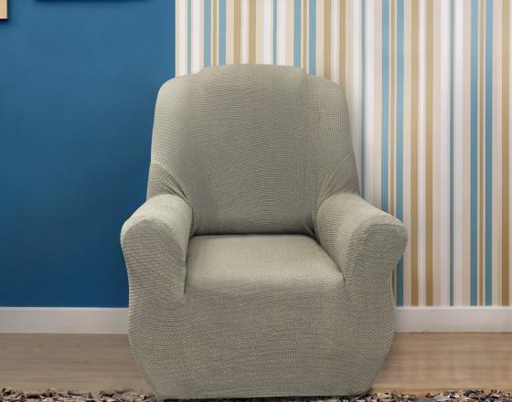 Чехол на кресло универсальный Аляска Грис Кларо