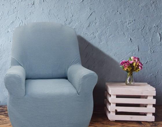 Чехол на кресло универсальный Аляска Азул Кларо