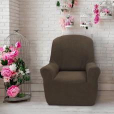 Чехол на кресло универсальный Елегант Марон