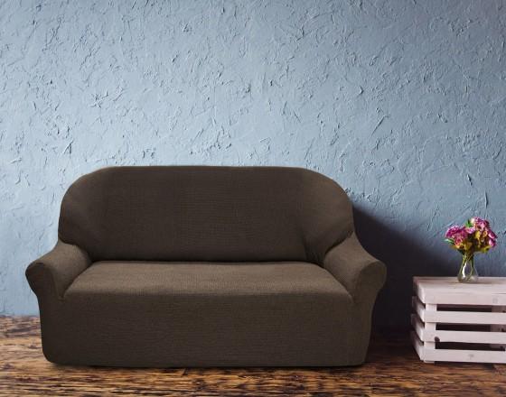 Чехол на трехместный диван универсальный Елегант Марон