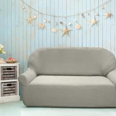 Чехол на трехместный диван универсальный Елегант Грис Кларо