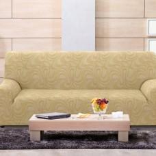 Чехол на четырехместный диван универсальный Данубио Беж