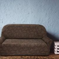 Чехол на трехместный диван универсальный Нант Марон