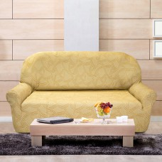 Чехол на трехместный диван универсальный Нант Беж