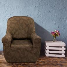 Чехол на кресло универсальный Нант Марон