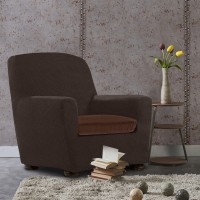 Чехол на подушку для кресла универсальный Аляска Марон