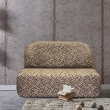 Чехол на диван без подлокотников универсальный Греция Беж