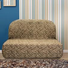 Чехол на диван без подлокотников универсальный Греция Марон