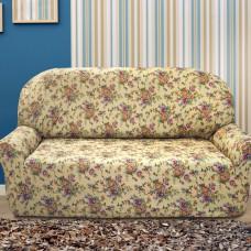 Чехол на трехместный диван универсальный Кретоне Беж