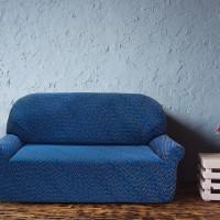 Чехол на трехместный диван универсальный Нью-Йорк Фэшн Блу