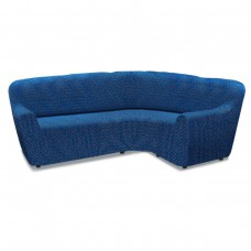 Чехол на классический угловой диван универсальный Нью-Йорк Фэшн Блу