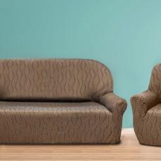 Комплект чехлов(маломерка) Тоскана Марон на 3-ёх местный диван и два кресла Универсальный