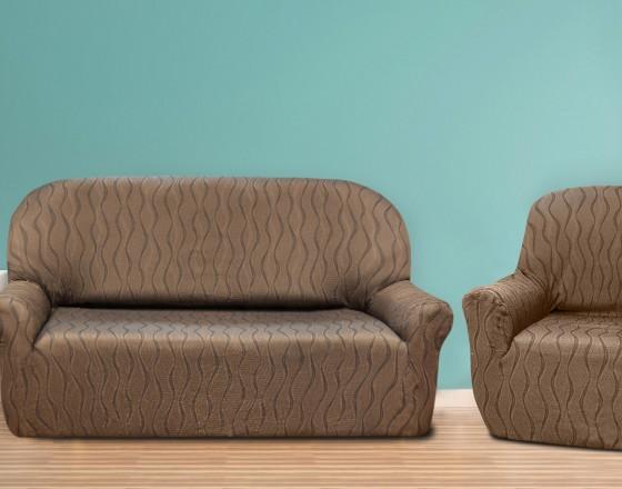 Комплект чехлов на 3-ёх местный диван и два кресла (маломерка) Тоскана Марон