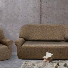 Комплект чехлов (маломерка) Бостон Марон на 3-ёх местный диван и два кресла Универсальный