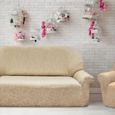 Еврокомплект чехлов  на  диван и два кресла трехместный (Маломерки) Бостон Марфил Универсальный