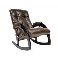 Кресло-качалка 67 каркас Венге, экокожа  Antik crocodile