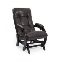 Кресло-качалка глайдер 68 каркас Венге, экокожа Vegas Lite Amber