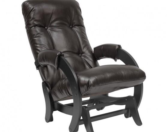 Кресло-качалка глайдер  68, Венге, экокожа Oregon perlamutr  120