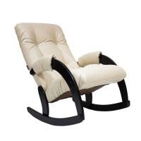 Кресло-качалка 67 каркас Венге, экокожа Polaris Beige
