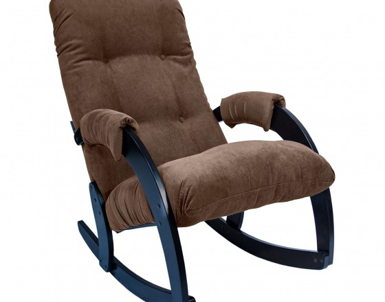 Кресло-качалка 67 каркас Венге, ткань Verona Brown