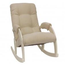 Кресло-качалка 67 каркас Дуб шампань, ткань Verona Vanilla